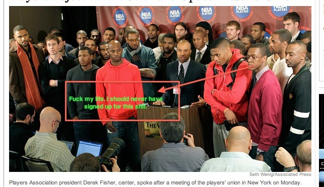 NBA Players Reject League's Offer (Photo)